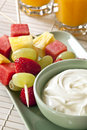 Fruit Sticks and Yogurt Royalty Free Stock Image