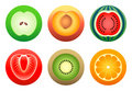Fruit symbols | Complex set Stock Photo