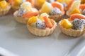 Fruit tart close up Royalty Free Stock Photo