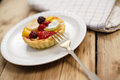 Fruit tart close up Royalty Free Stock Photo