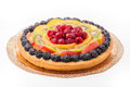 Fruit tart with colored jelly Royalty Free Stock Photo