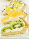 Fruit-tart slices Royalty Free Stock Image
