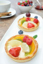 Fruit tarts Stock Images