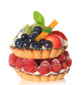 Fruit tarts Stock Photography