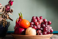 Fruit tray on the table. Royalty Free Stock Photo