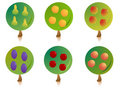 Fruit tree signs Stock Image