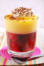Fruit trifle Stock Photography