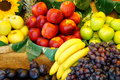 Fruit variation of fresh for sale at a market Royalty Free Stock Images