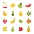 Fruit vector set of icons each included different layer in eps file Royalty Free Stock Images