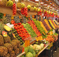 Fruit and vegatable stall southern spain a beautiful vegetable in a market Stock Images