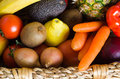 Fruit and Vegetable Basket Stock Image