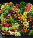 Fruit and Vegetable ensemble Royalty Free Stock Photo