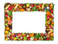 Fruit and vegetable frame Royalty Free Stock Photo