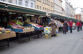 Fruit vegetable market prague czech republic Stock Photos