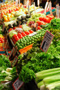 Fruit and vegetable stand an image of a in pike market place seattle washington usa Royalty Free Stock Image