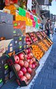 Fruit and vegetable stand jaffa israel apr at the jaffa tel aviv flea market in israel Stock Photography