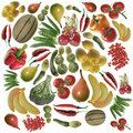 Fruit and vegetables background Royalty Free Stock Photography