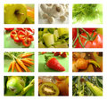 Fruit and vegetables collage Stock Photo