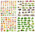 Fruit and vegetables collection isolated on white background Royalty Free Stock Photos