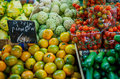 Fruit and vegetables farmers market Royalty Free Stock Photo