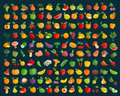 Fruit and vegetables logo design template. farm or harvest icons