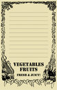 Fruit and vegetables Price Board Royalty Free Stock Image