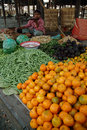 Fruit and vegetables shop in myanmar market bagan march woman sell morning traditional every day on march bagan city Stock Images