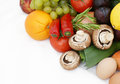Fruit and vegetables stack of healthy Stock Photo