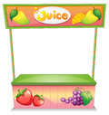 A fruit vendor stall illustration of on white background Royalty Free Stock Images
