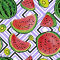 Fruit watercolor pattern