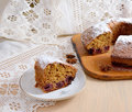 Fruitcake with cherries and anise Stock Photos