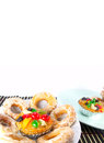 Fruitcake en sugar donut Royalty-vrije Stock Afbeelding