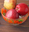 stock image of  Fruits. Apples, pear and banana.