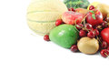 Fruits assortment collection of different and berries Royalty Free Stock Photos