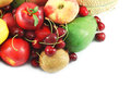 Fruits assortment collection of different and berries Stock Photo