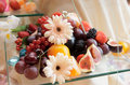 Fruits on banquet table Stock Photo