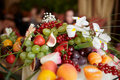 Fruits on banquet table Royalty Free Stock Photos