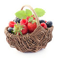 Fruits in a basket Royalty Free Stock Photo