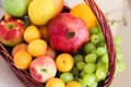 Fruits in basket Royalty Free Stock Photo