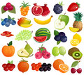Fruits Berries Colorful Icons Collection