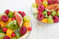 Fruits and berries salad Royalty Free Stock Photos
