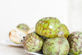 Fruits of cherimoya south fruit on plate Royalty Free Stock Photography