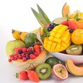 Fruits close up on abundance of Royalty Free Stock Image