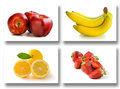 Fruits collage Royalty Free Stock Photos