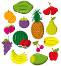 Fruits collection Royalty Free Stock Photos