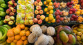 Fruits on display in farmer's market Royalty Free Stock Photo