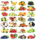 Fruits fruit collection fresh orange apple apples strawberry che Royalty Free Stock Photo
