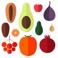 Fruits. Icon Set Royalty Free Stock Photo