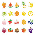Fruits icon set Royalty Free Stock Photo