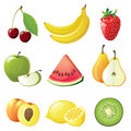 Fruits icons Royalty Free Stock Photo